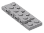 LEGO® Brick: Plate 2 x 6 x 0.667 with Four Studs On Side and Four Raised (87609) | Color: Medium Stone Grey