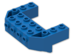 LEGO® Brick: Wedge 4 x 6 x 1.667 Inverted with Studs on Front Side (87619) | Color: Bright Blue