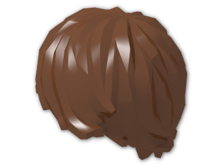 LEGO® Brick: Minifig Hair Tousled with Side Parting (87991) | Color: Reddish Brown