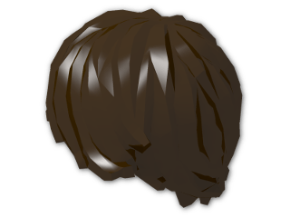 LEGO® Stein: Minifig Hair Tousled with Side Parting (87991) | Farbe: Dark Brown