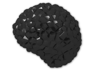 LEGO® Brick: Minifig Hair Bubble Style (Afro) (87995) | Color: Black