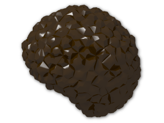 LEGO® Brick: Minifig Hair Bubble Style (Afro) (87995) | Color: Dark Brown