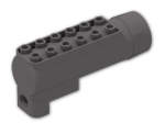 LEGO® Brick: Car Air Blast Receiver (Needs Work) (87944) | Color: Dark Stone Grey