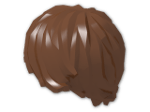 LEGO® Stein: Minifig Hair Tousled with Side Parting (87991) | Farbe: Reddish Brown