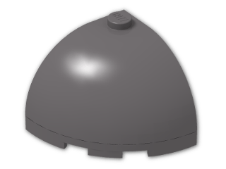 LEGO® Brick: Brick Round Corner 3 x 3 x 2 Dome Top (88293) | Color: Dark Stone Grey
