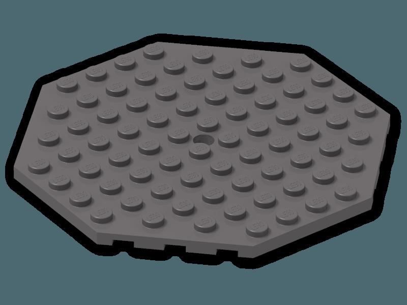 Lego Plate Octagonal 10x10 with Hole Purple x1 89523