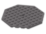 LEGO® Brick: Plate 10 x 10 Octagonal with Hole and Snapstud (89523) | Color: Dark Stone Grey