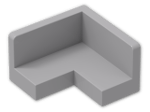 LEGO® Stein: Panel 2 x 2 x 1 Corner with Rounded Corners (91501) | Farbe: Medium Stone Grey