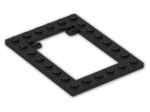 LEGO® Brick: Plate 6 x 8 Trap Door Frame with Flat Clips (92107) | Color: Black