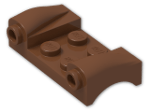 LEGO® Brick: Car Mudguard 2 x 4 with Headlights and Curved Fenders (93590) | Color: Reddish Brown