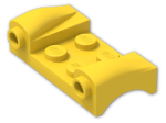 LEGO® Brick: Car Mudguard 2 x 4 with Headlights and Curved Fenders (93590) | Color: Bright Yellow