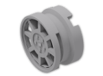 LEGO® Brick: Wheel Rim 6.4 x 11 with 8 Straight Spokes (93593) | Color: Medium Stone Grey