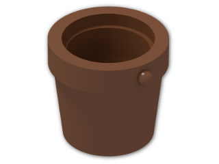 LEGO® Brick: Bucket 1 x 1 x 1 Conical (95343) | Color: Reddish Brown