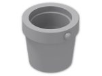 LEGO® Brick: Bucket 1 x 1 x 1 Conical (95343) | Color: Medium Stone Grey