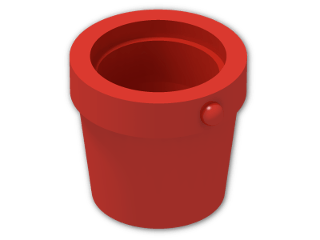 LEGO® Brick: Bucket 1 x 1 x 1 Conical (95343) | Color: Bright Red