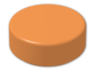 LEGO® Brick: Tile 1 x 1 Round with Groove (98138) | Color: Bright Orange