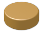 LEGO® Brick: Tile 1 x 1 Round with Groove (98138) | Color: Warm Gold
