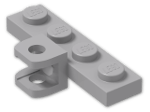 LEGO® Stein: Plate 1 x 4 with Square Towball Socket (98263) | Farbe: Medium Stone Grey