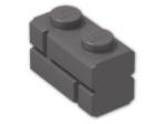 LEGO® Stein: Brick 1 x 2 with Embossed Bricks (98283) | Farbe: Dark Stone Grey