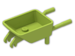 LEGO® Stein: Wheelbarrow with Two Studs and 1 Front Wheel Holder (98288) | Farbe: Bright Yellowish Green