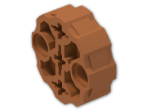 LEGO® Brick: Technic Connector Circular with 2 Pin Holes and 3 Axle Holes (98585) | Color: Dark Orange