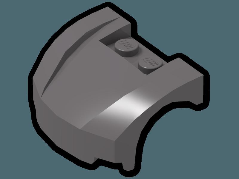 5x 6189118 Brick 98835 LEGO NEW 3x4x1.33 Dark Stone Grey Curved Vehicle Front