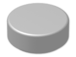LEGO® Brick: Tile 1 x 1 Round with Groove (98138) | Color: Silver
