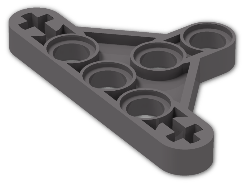 part no 99773 4x Technic Lego Beam 5x3x0.5 Liftarm Triangle Type 2 in Md Stone