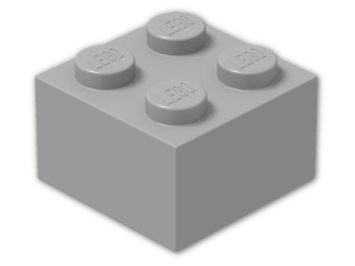LEGO® Brick Color: Medium Stone Grey
