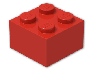 LEGO® Stein Farbe: Bright Red