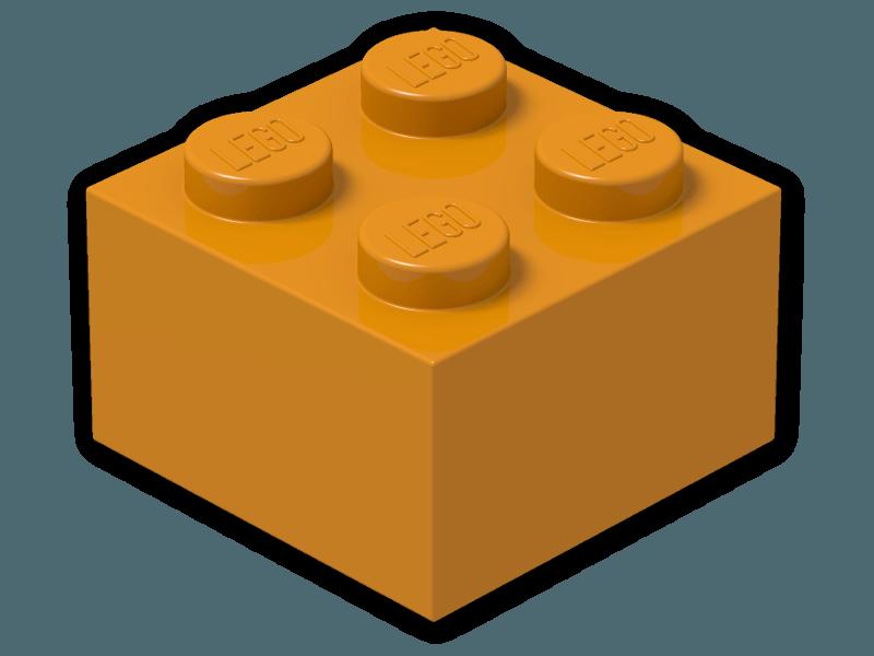 Lego 174 Color Earth Orange