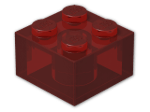 LEGO® Stein Farbe: Transparent Red