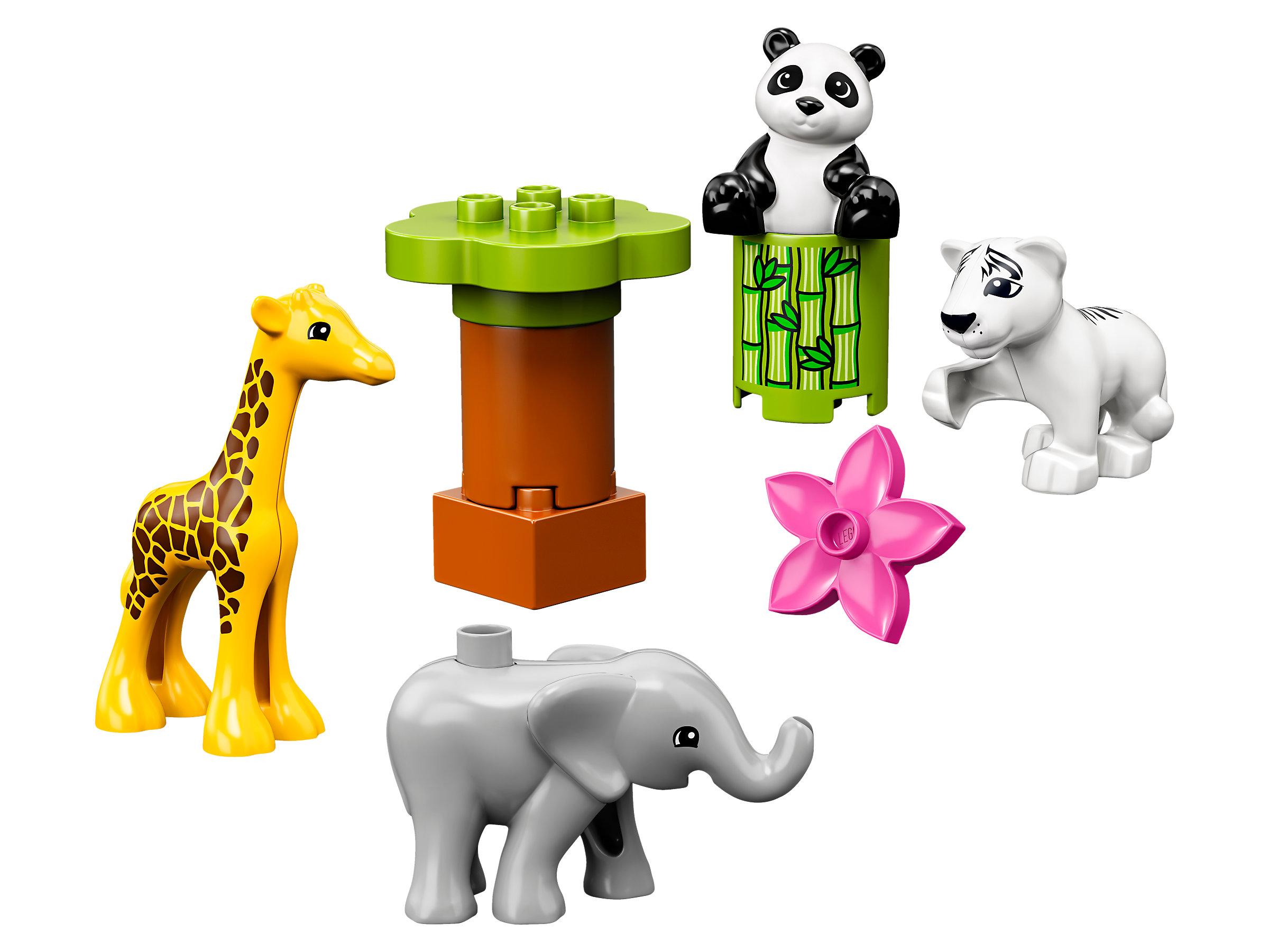 Bausteine Tiere Elefant Panda Giraffe LEGO DUPLO 10904 Süße Tierkinder