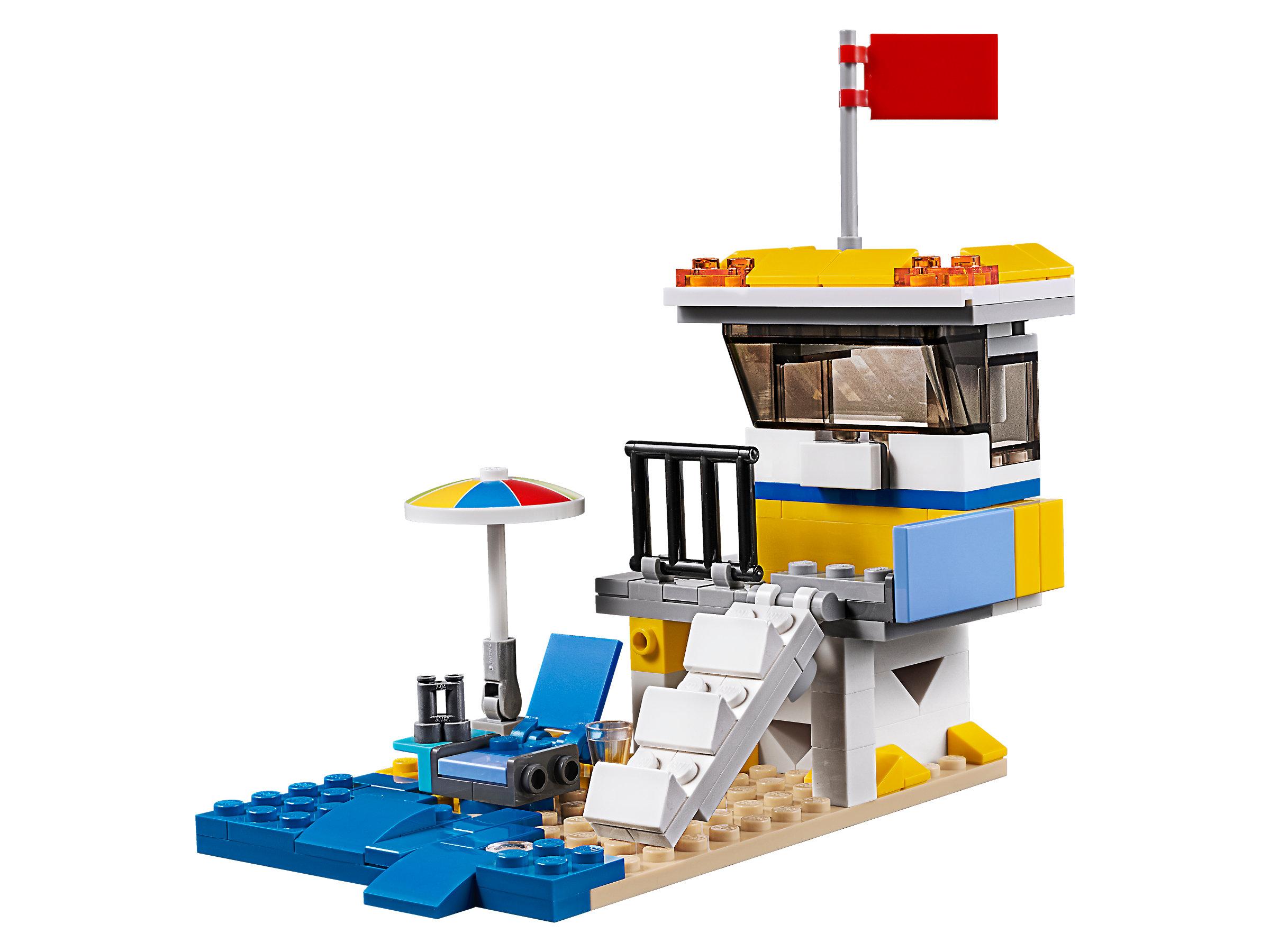 LEGO Creator 3 in 1 Sunshine Surfer Van Block Building Toy Set