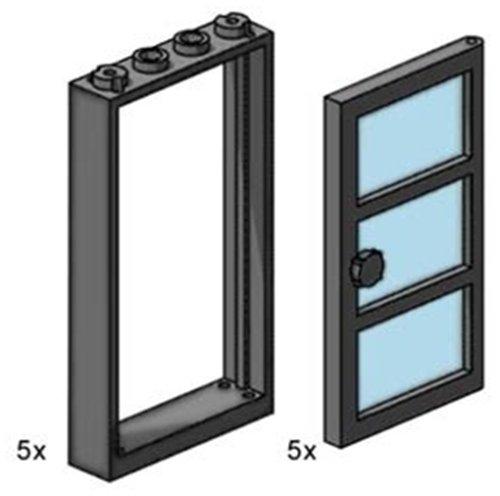 Lego schwarz 1x 2x5x5 Drehtür 40249 #139 Nr