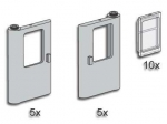 LEGO® Bulk Bricks Grey Train Doors with Panes (3735-1) erschienen in (2000) - Bild: 1