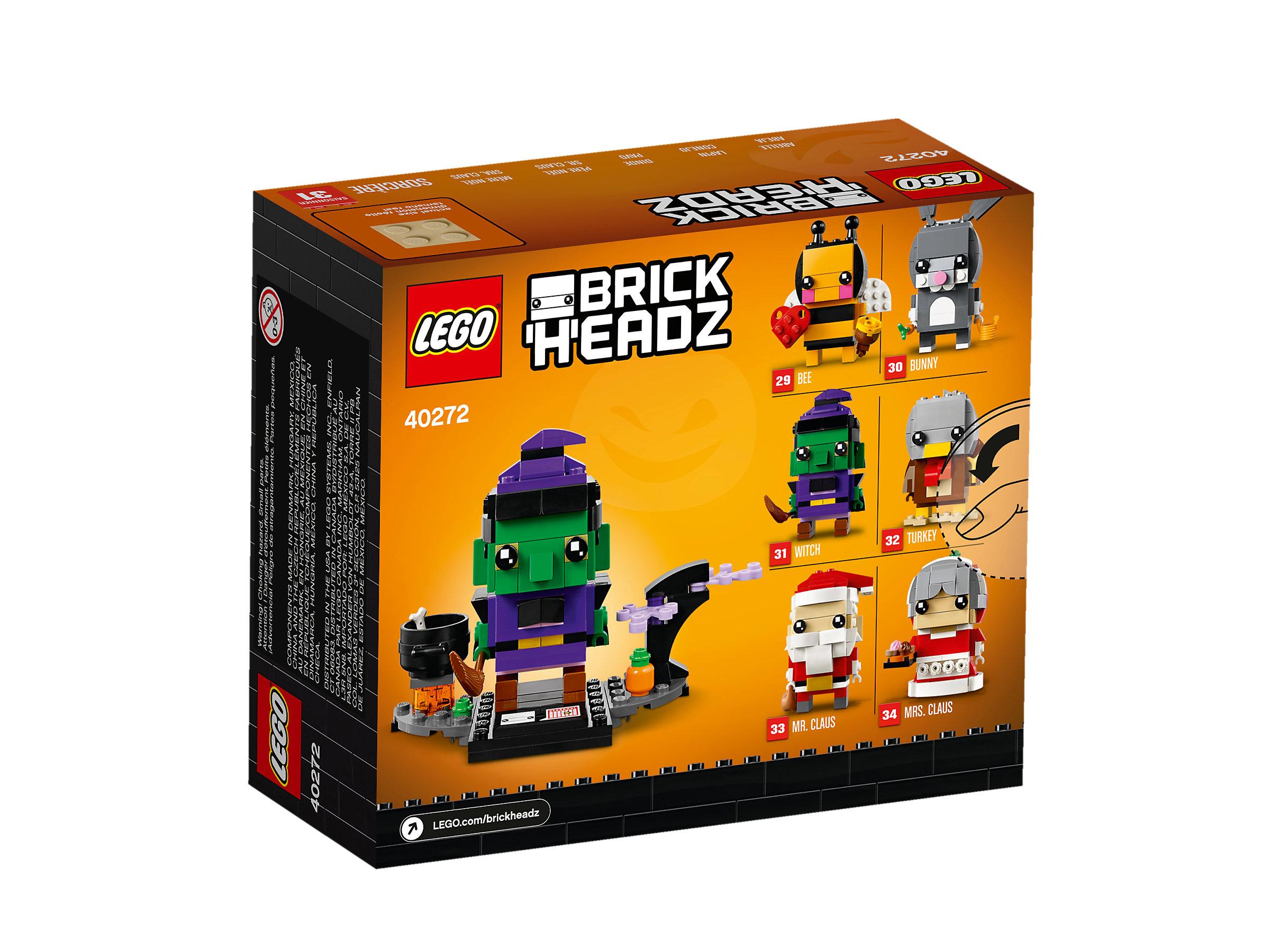 151 Pieces LEGO BrickHeadz Halloween Witch 40272 Building Kit