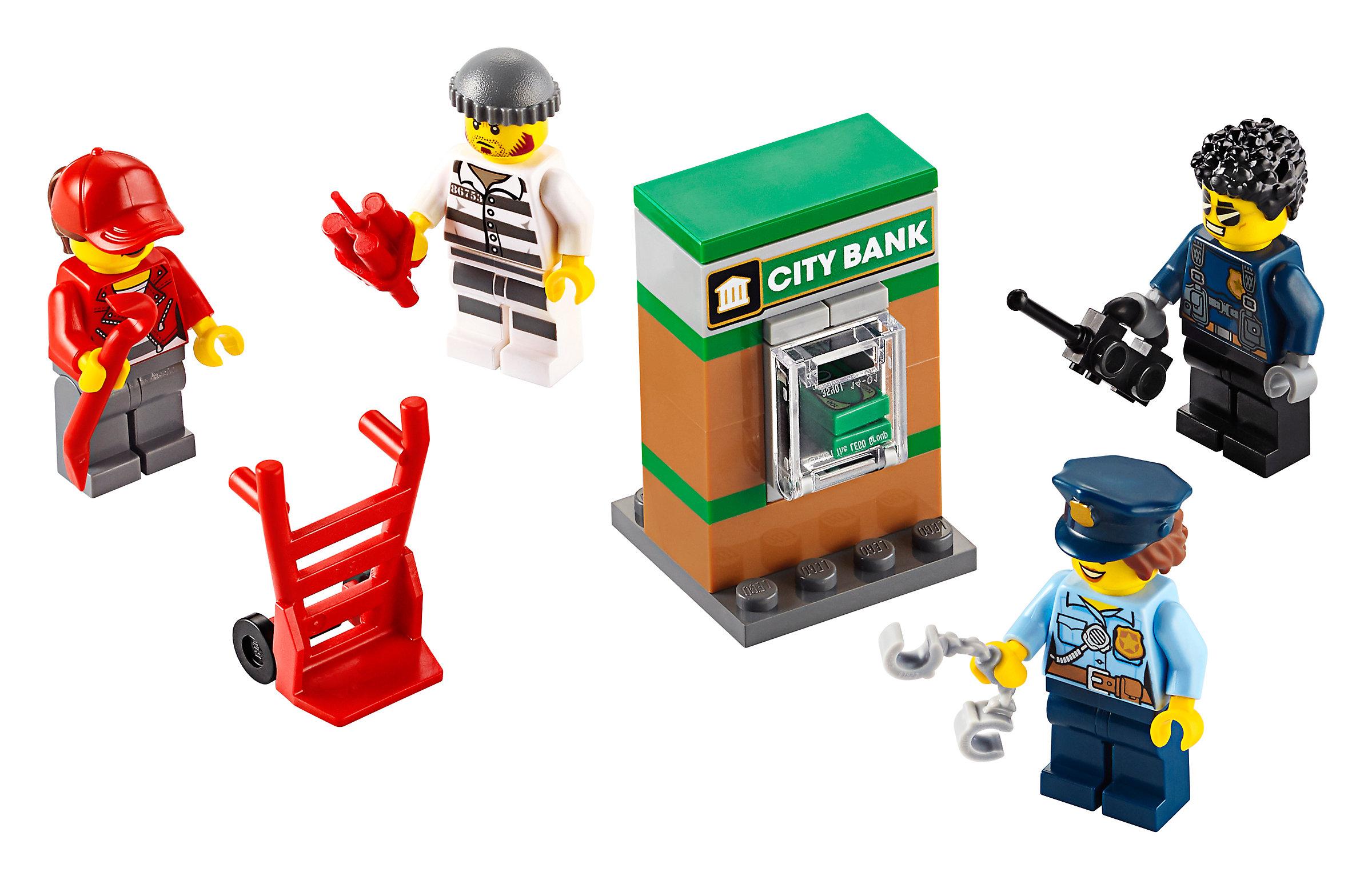 Lego City Polizei Minifiguren Zubehörset 40372