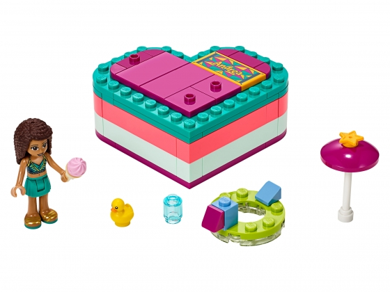 LEGO® Friends Andrea's Summer Heart Box (41384) released in (2019) - Image: 1