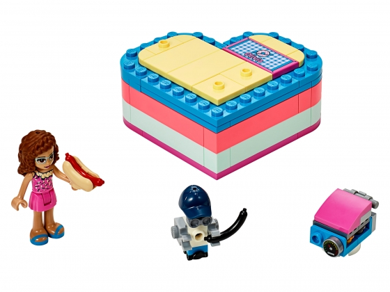 LEGO® Friends Olivia's Summer Heart Box (41387-1) released in (2019) - Image: 1