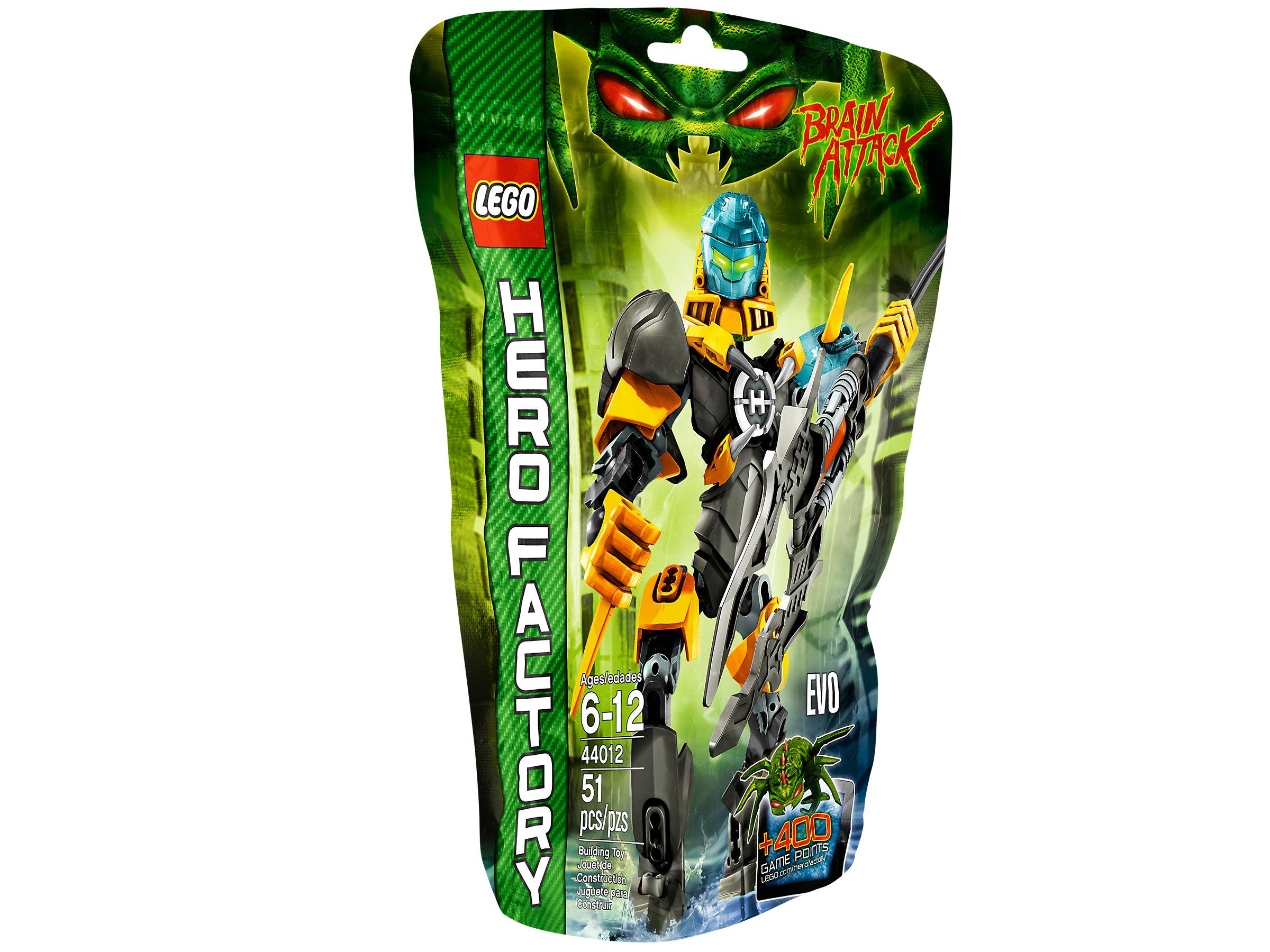 Lego Hero Factory Brain Attack 44012 EVO NEW FACTORY SEALED Retired