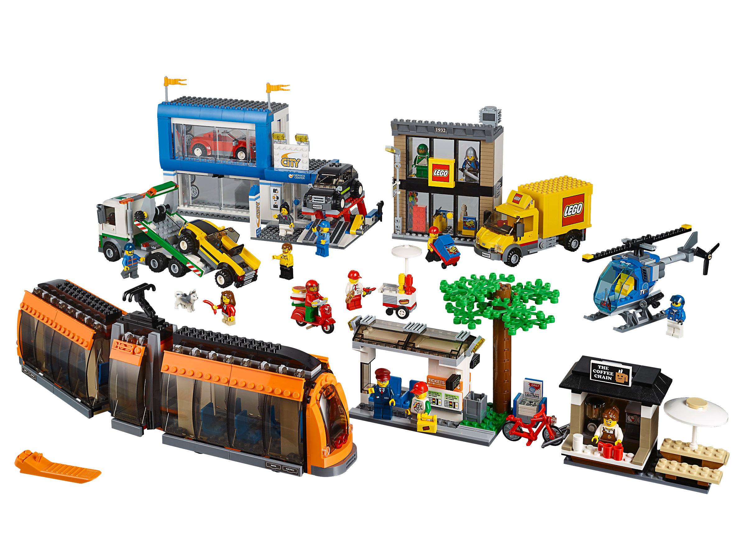 Lego Lego Store w Mini-Figures City Square Train 60097 B5 Book-5 *New Sealed*