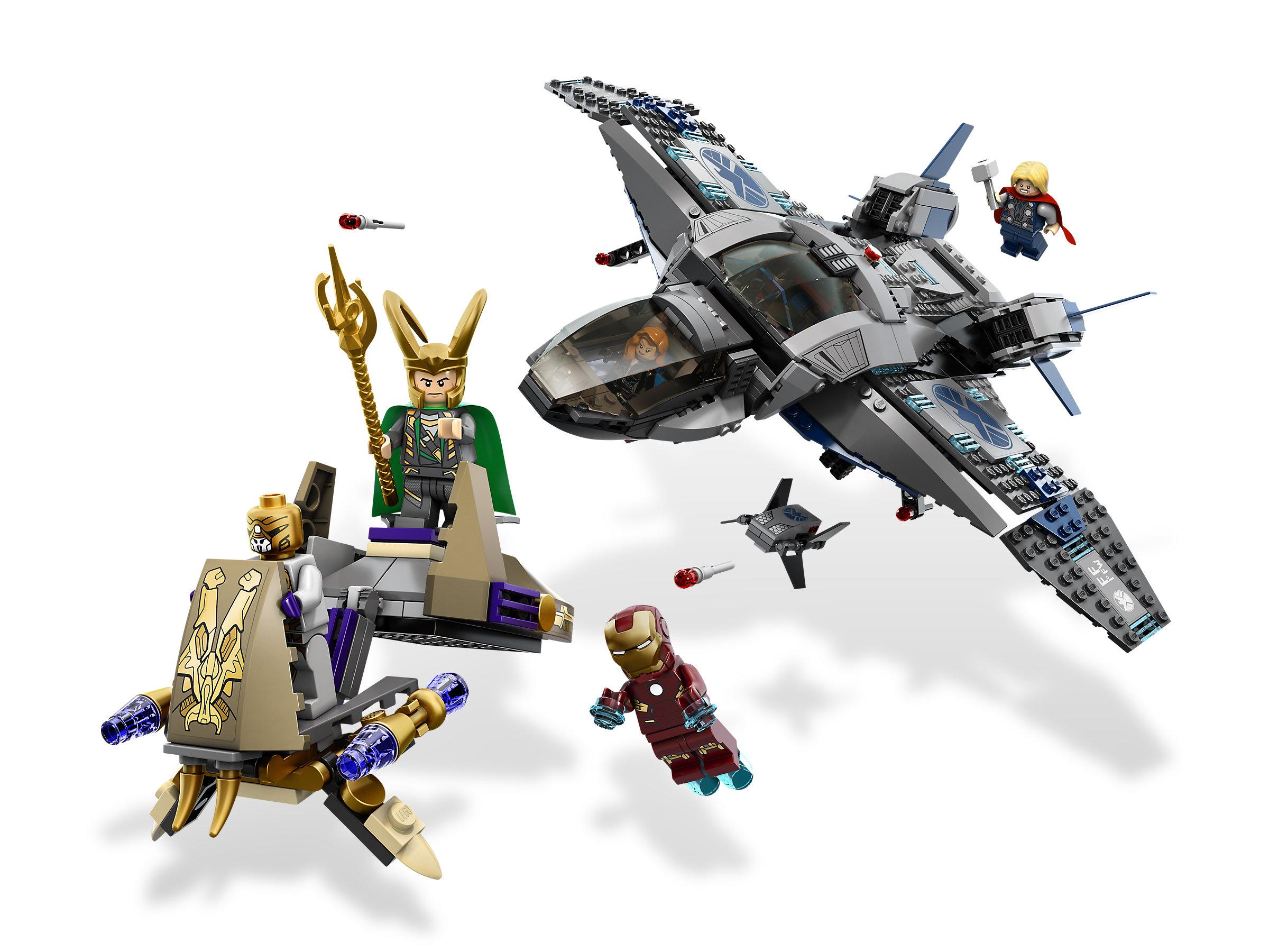 LEGO 6869 MARVEL SUPER HEROES AVENGERS QUINJET AERIAL BATTLE NIB