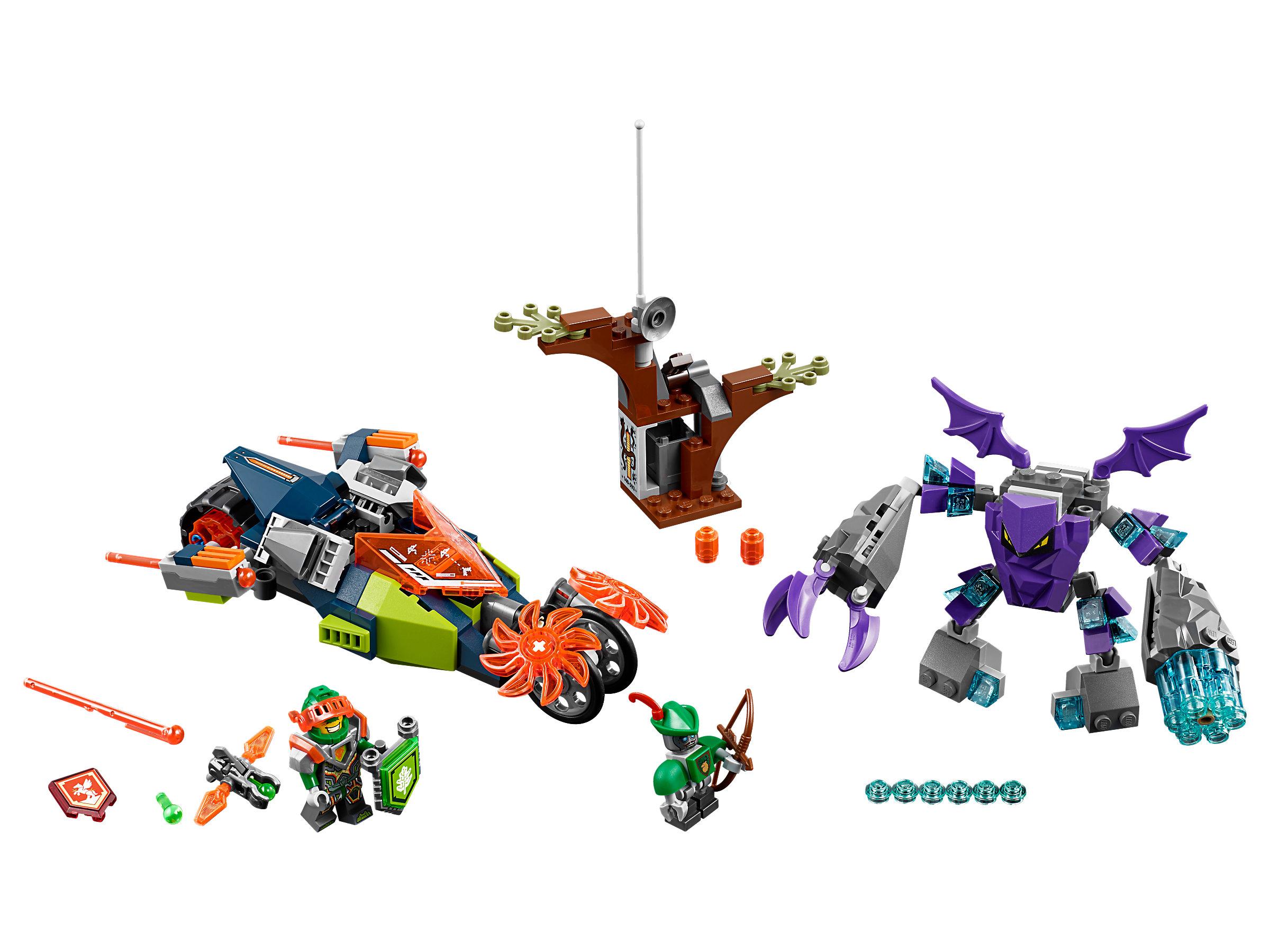 lego® nexo knights aarons flexdragster 70358