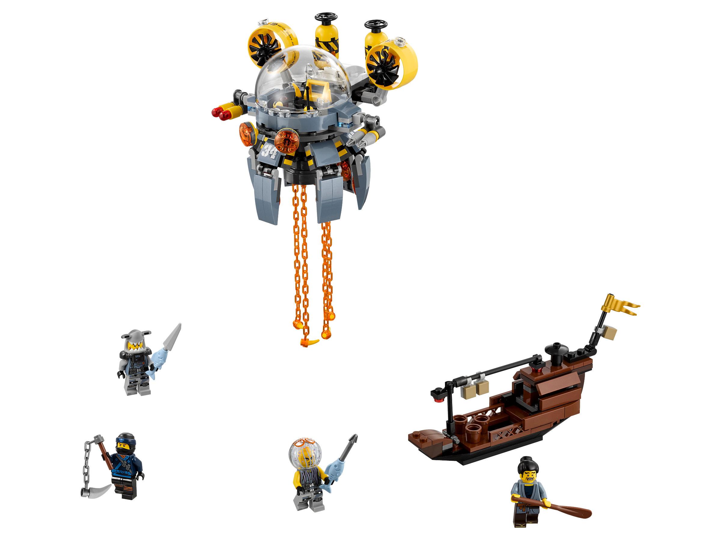 LEGO Ninjago Movie Flying Jelly Sub Set  #70610-341 Pieces NEW Factory Sealed