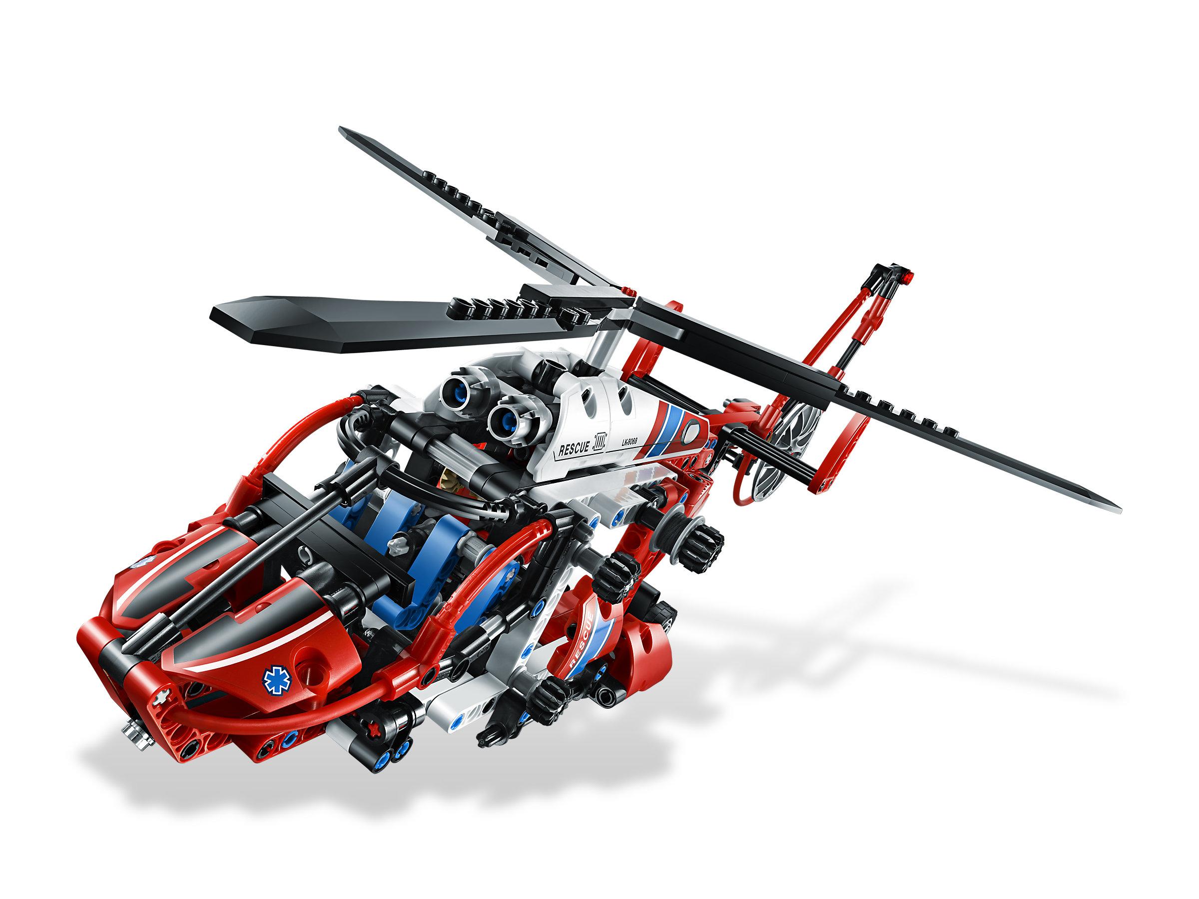 8068 Rettungshubschrauber LEGO Technic Bauanleitung Instruction