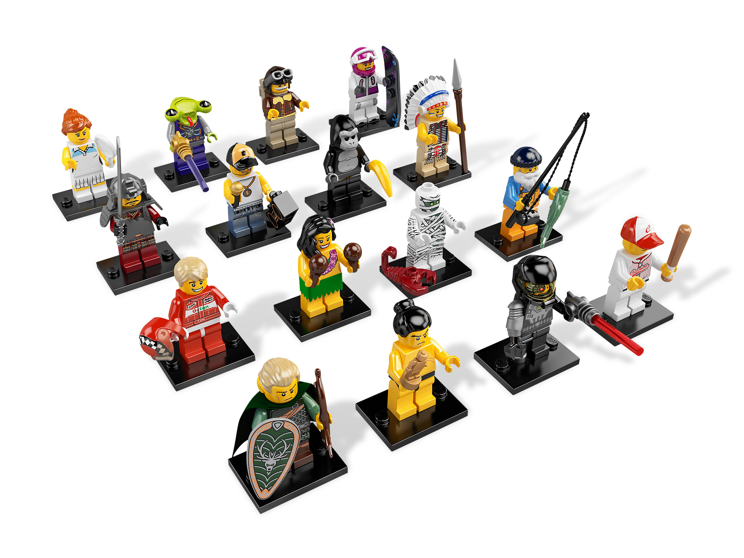 """Complete LEGO Collectible Minifigure #8803 Series 3 /""""TRIBAL CHIEF/"""""""